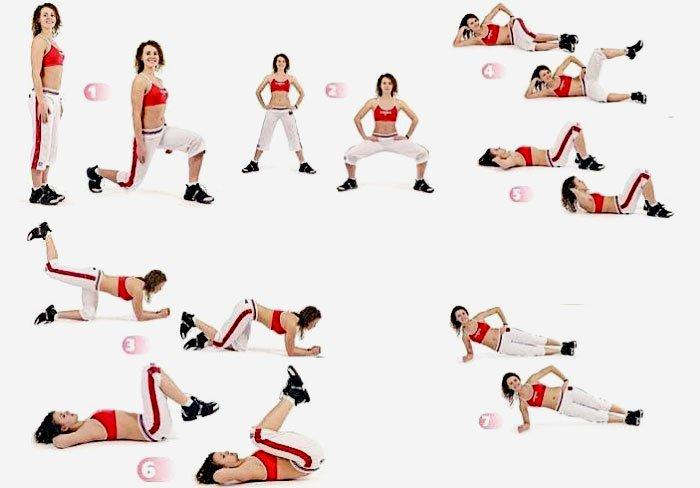 Комплекс упражнений для девушки в домашних условиях фото