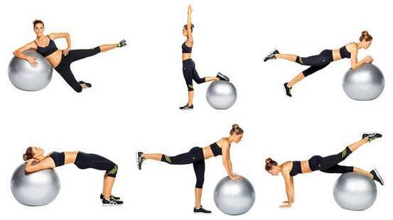 Упражнения для похудения на мяче