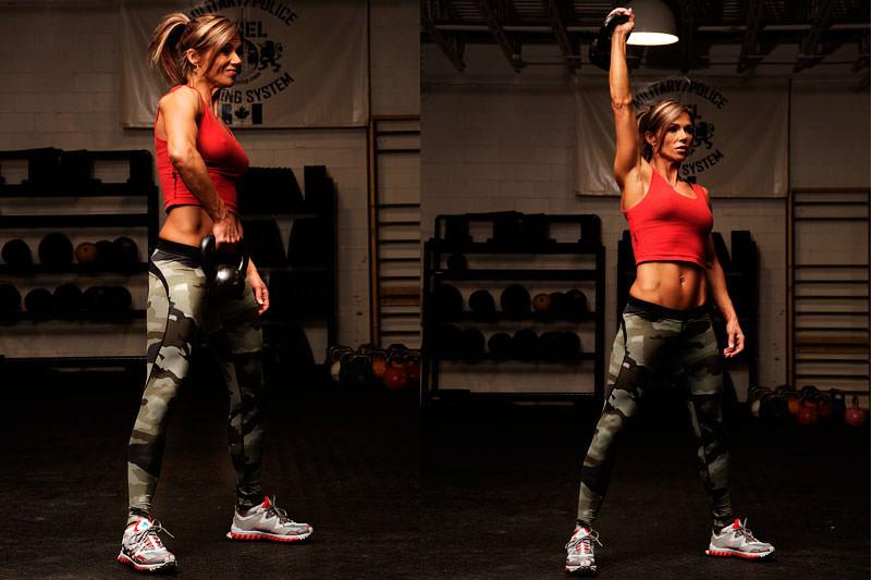 Упражнения с гирями для похудения