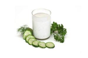 Кефирно-овощная